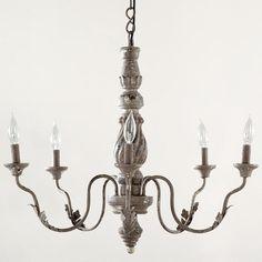 One of my favorite discoveries at WorldMarket.com: Grey Vintage Chandelier