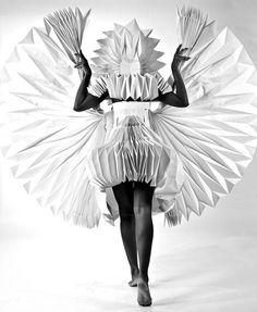 Tara Keens Douglas, Carnival Costumes Made from Folded Paper (via strictlypaper.com)