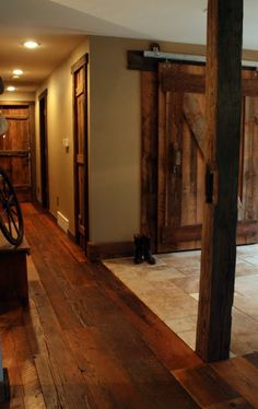 rustic wood floor
