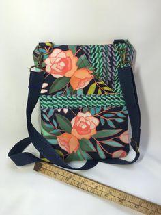 CROSSBODY BAG,  Small CrossBody Bag, Sling Bag, Travel Bag, Handbag, Bags and Purses, Shoulder Bag, Kindle, Fabric Bag, Handmade Bag