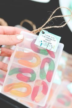 Love this idea for a party favors at a Fishing birthday party