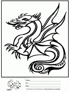 Awesome Coloring Page Dragon