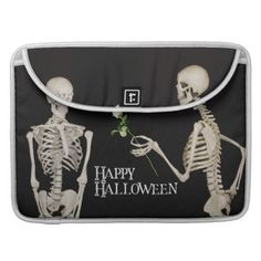 #Skeletons Funny Romantic Happy Halloween Sleeve For MacBook Pro - #Halloween happy halloween #festival #party #holiday