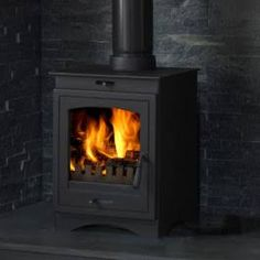 wood burning stove uk large window