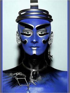 futuristic face