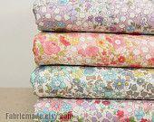 Fat Quarter Bundle Japanese Fabric Bundle Floral Fabric Bundle Tiny Flower Cotton Fabric Bundle- sets for 4
