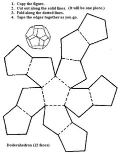 12-sided shape pattern! These are great to make and then practice drawing.