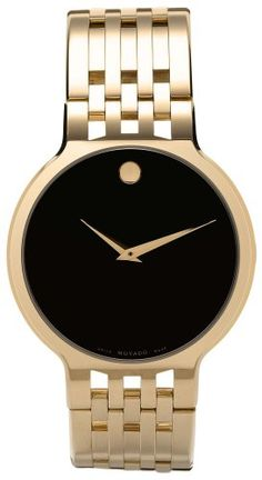 Movado Men's 606068 Esperanza Gold-Plated Stainless-Steel Watch: Watches: Amazon.com