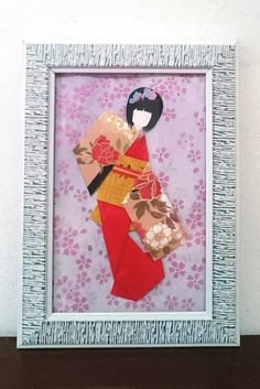 Cute Bookmarks, Japanese Kimono, Origami Paper, Gifts For Girls, Geisha, Beige, Dolls, Floral, Red