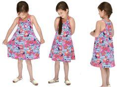 DIY Kostenloses Schnittmuster Kinderkleid aus Jersey