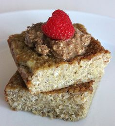 Cinnamon Quinoa Bake...could use this recipe as a base but make alterations. Good for a protein-packed breakfast