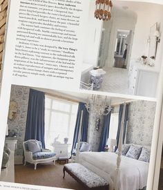 """95 Likes, 8 Comments - Betsy Anderson Interiors (@betsyandersoninteriors) on Instagram: """"Love seeing our Master Suite in this month's issue of @homedesigndecormagazine 💙 A big thank you to…"""""""