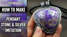 DIY How to make Pendant from polymer clay in Stone and Silver imitation!