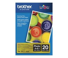 Brother - Inobella Glossy Photo Paper - White - Larger Front