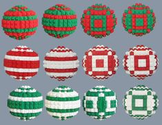 LEGO Brick Ornaments in Christmas, Hanukkah, & Kwanzaa by ChristopherCreations Lego Christmas Ornaments, Easy Christmas Decorations, Christmas Wreaths To Make, Christmas Hanukkah, Christmas Makes, Christmas Holidays, Lego Decorations, Ball Ornaments, Christmas Ideas