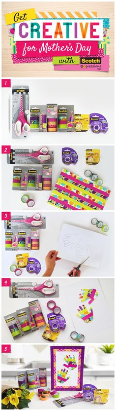 Make something memorable for mum this Mother's Day with Scotch® Expressions Tape. Just visit our easy-to-follow tutorials and get inspired.<www.3mgetcreative.com.au>; <www.3mgetcreative.co.nz> Scotch® Expressions Tape is available at Officeworks, Big W & Staples in Australia and from Warehouse Stationery in New Zealand Desk Organization Diy, Diy Desk, Scotch Tape, Washi Tape, Mother Day Gifts, Warehouse, How To Memorize Things, Stationery, Tutorials