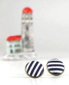 Marineblau Stud Ohrringe  frische blaue von PatchworkMillJewelry