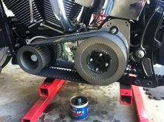 Front and rear pulleys and belt installed.  A little grease for the shaft.  LOL.