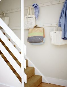 Christine Chang Hanway, Unexpected Storage in London Home, Shaker Pegs, Photo by Kristin Perers
