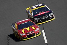 NASCAR Sprint Cup Series Bank of America 500*** Austin Dillion Jamie McMurray, driver of the #1 McDonald's Chevrolet, races against Austin Dillon, driver of the #3 Dow Coating Materials Chevrolet, during the NASCAR Sprint Cup Series Bank of America 500 at Charlotte Motor Speedway on October 9, 2016 in Charlotte, North Carolina. (Oct. 8, 2016 - Source: Streeter Lecka/Getty Images North America)