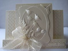 Gorgeous die cut card....... .....would make a very special wedding card