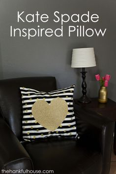 Kate Spade Inspired Pillow | The Hankful House