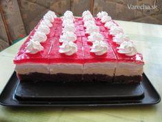 Nepečené višňové kocky No Bake Cake, Cheesecake, Deserts, Treats, Baking, Anna, Google, Cake Ideas, Food Food