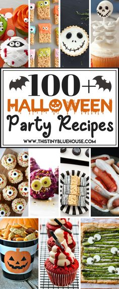 The ULTIMATE collection (over recipe of Halloween Party Food. Finger foods, desserts and spooky drinks! You'll find awesome inspiration for your next Halloween bash. Halloween Tags, Halloween Desserts, Halloween Food For Adults, Halloween Fingerfood, Halloween Camping, Halloween Party Supplies, Halloween Food For Party, Halloween Cupcakes, Vintage Halloween