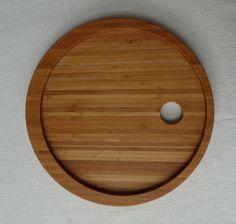 Ontbijt-op-bed-bord gemaakt van bamboe