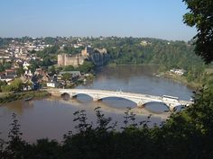 Chepstow Castle and Bridge from Tutshill