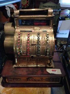 Antique Brass National Cash Register Model 441 NCR