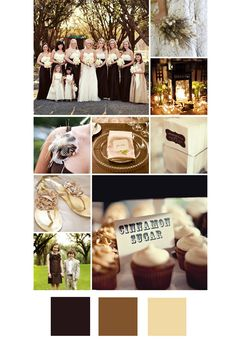 20 New Wedding Colour Combos Chocolate, Brown & Cream – The Knot