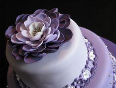 Lavender flower cake
