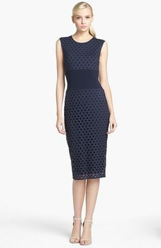Bailey 44 'Drop Ball' Perforated Jersey Dress | Nordstrom I like the structure of the dress and it hits right below the knee.