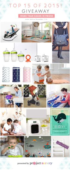 Top 15 Baby Products of 2015 - enter to win them all from Project Nursery
