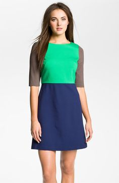 Suzi Chin for Maggy Boutique Colorblock Ponte Dress available at #Nordstrom