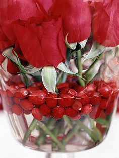 Cranberries and Flowers