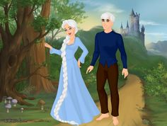 Elsa and Jack Frost by Kailie2122.deviantart.com on @DeviantArt