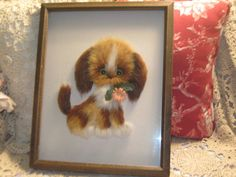 Darling Fuzzy Furry Puppy Picture by Daysgonebytreasures on Etsy, $35.00