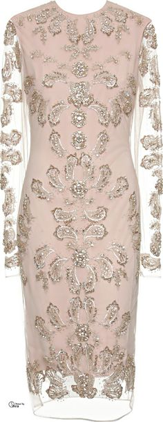 Marchesa Embroidered Silk Dress What to Wear to a Wedding?