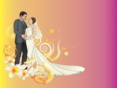 Bride and Groom Wedding Backgrounds for presentation