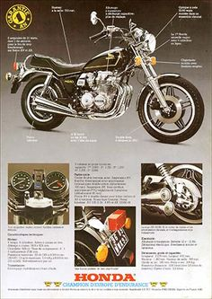 23197. - MOTORCYCLE - HONDA 1980 - CB 650C - Garantie 1 AN - 29x41-.