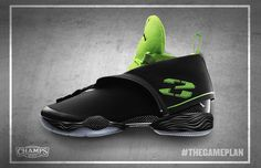 Air Jordan XX8 Black/White-Electric Green