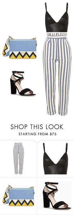 """""""Brunch outfit"""" by mkartall ❤ liked on Polyvore featuring Topshop, T By Alexander Wang, Prada and Kate Spade"""