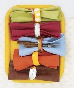 Use your favorite Bracelet as napkin rings