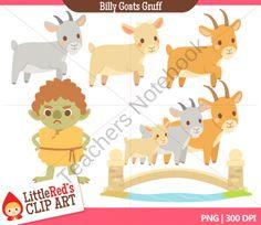 Clip Art - Billy Goats Gruff - Fairy Tale Clipart product from Little-Reds-Clip-Art on TeachersNotebook.com