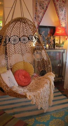 Hanging chair- so badly want to macrame this chair!