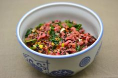 Tartare de boeuf style salade boeuf thai