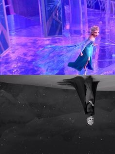 Elsa before and after Frozen And Tangled, Frozen Heart, Frozen Movie, Elsa Frozen, Disney Frozen, Frozen Stuff, Best Disney Movies, Disney Films, Disney And Dreamworks