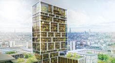 Residential Tower in Antwerp by C.F. Møller Architects